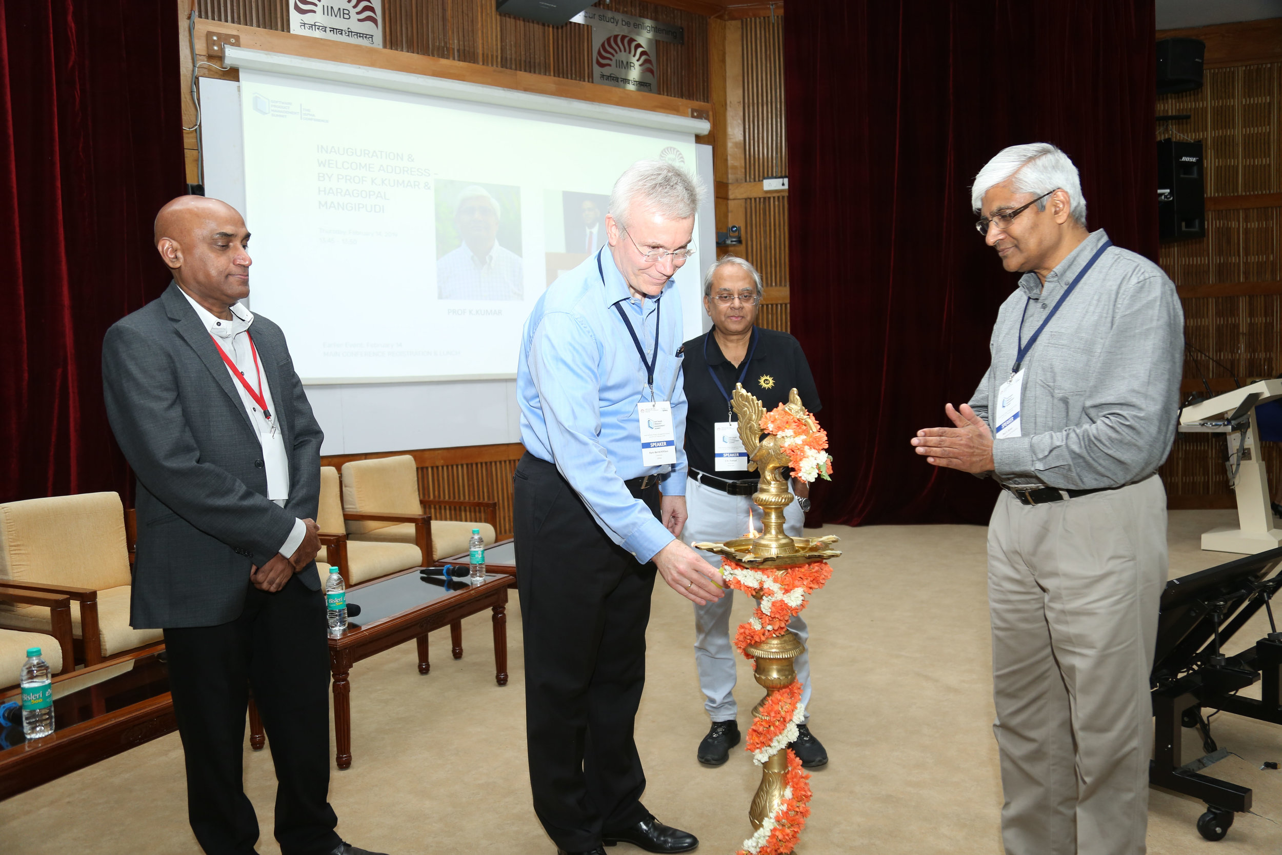 INAUGURATION OF INDIA SPM SUMMIT 2019 BY HANS- BERND KITTLAUS, D.N PRAHLAD, HARAGOPAL MANGIPUDI, PROF. K. KUMAR