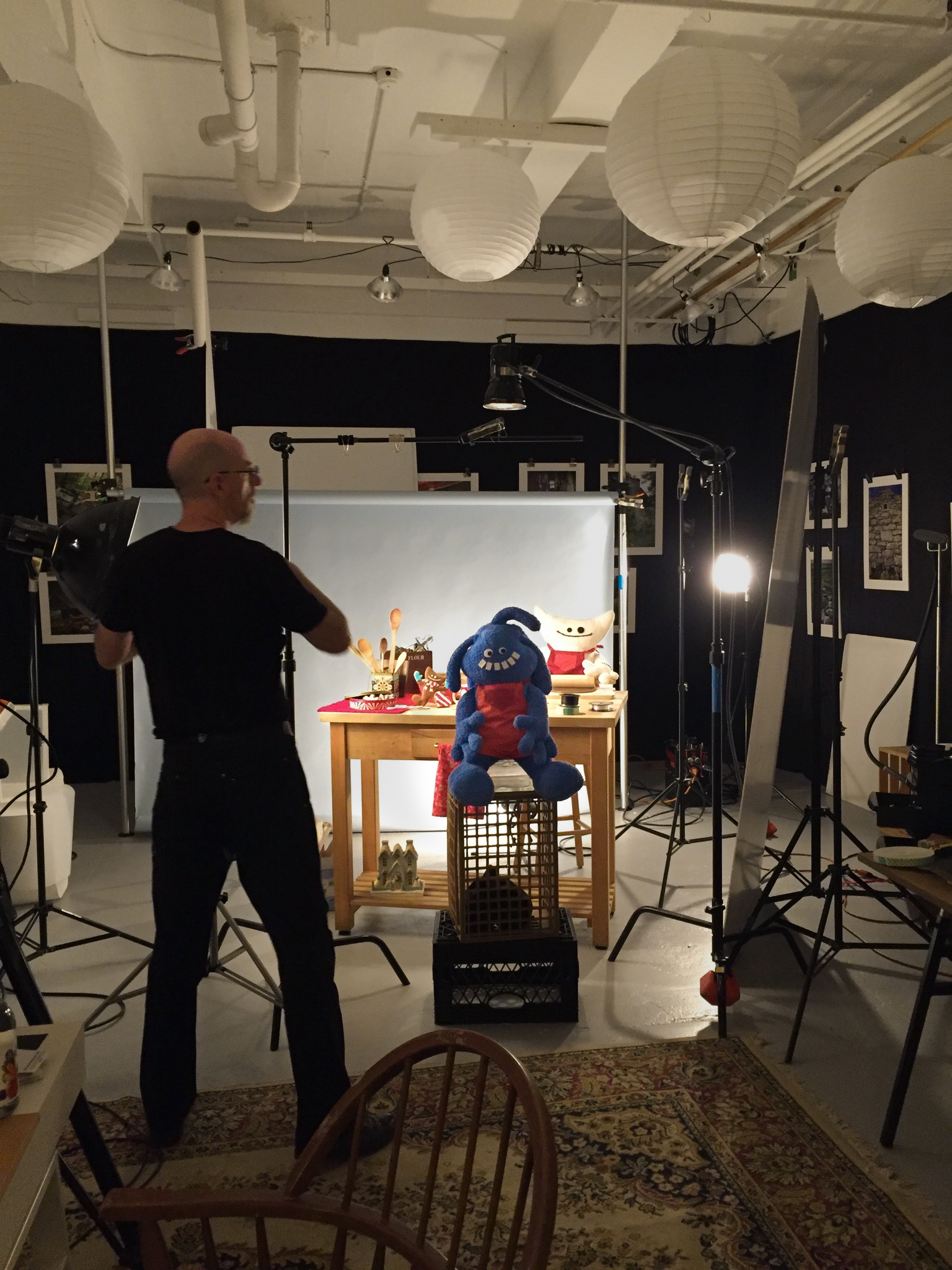 First lighting and set-up tests, with our fantastic photographer Andrew O'Beirne