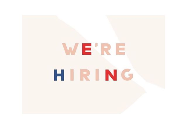 We're hiring a WC Account Executive and Showroom Assistant! Email or DM us for qualifications and details.