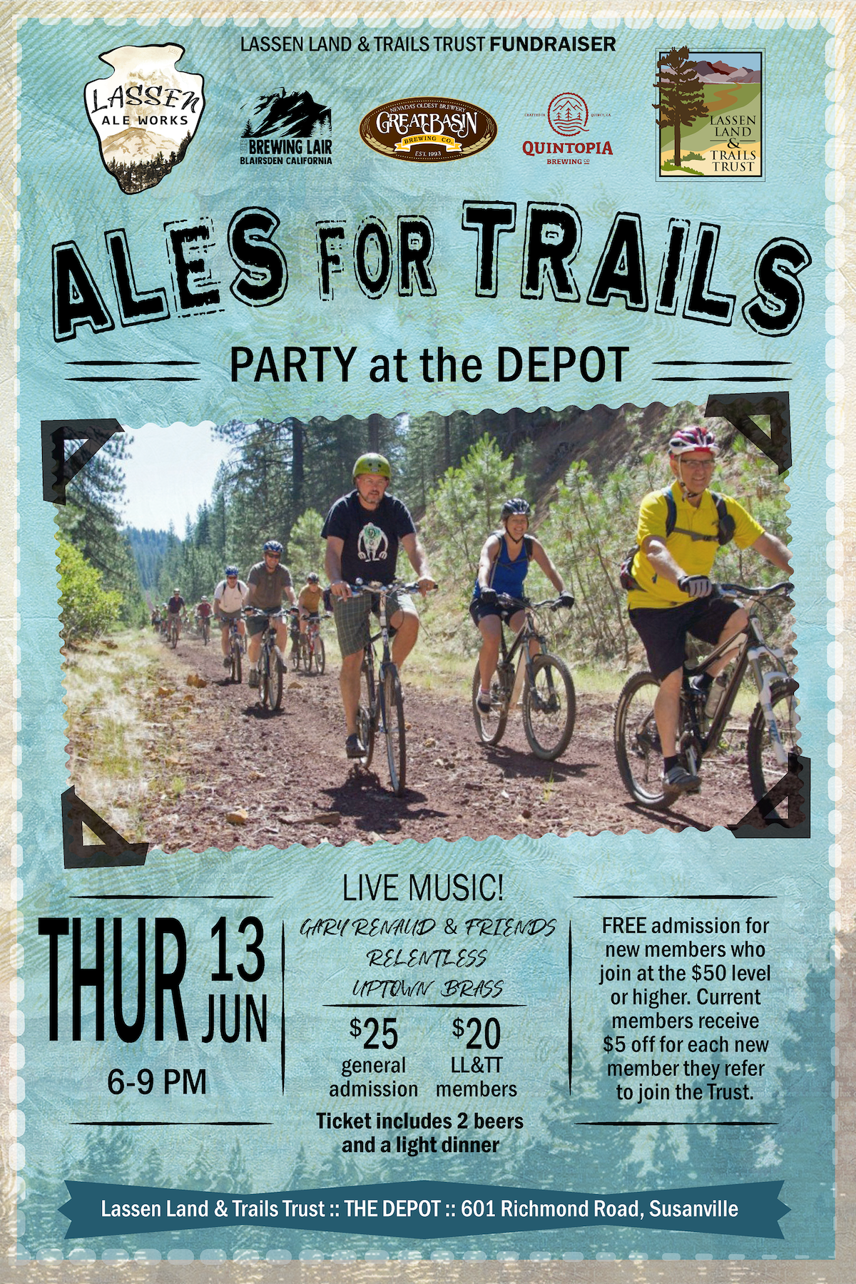 Ales for Trails - Party at the DepotPurchase tickets below