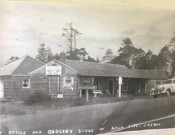 The Inn at Arch Cape in the 1950s when it served as the community's grocery store and post office.