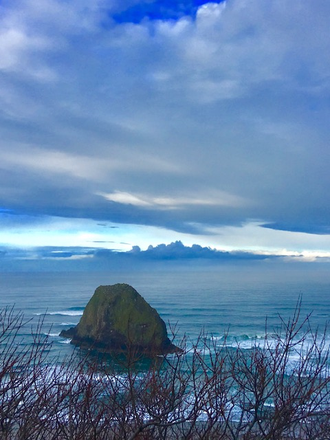 Jockey Cap Rock, south of Silver Point near Tolovana State Park, is one of the Oregon Coast's great rock formations.