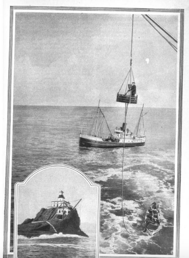 Photo of Tillamook Rock from a 1923 Popular Mechanics article