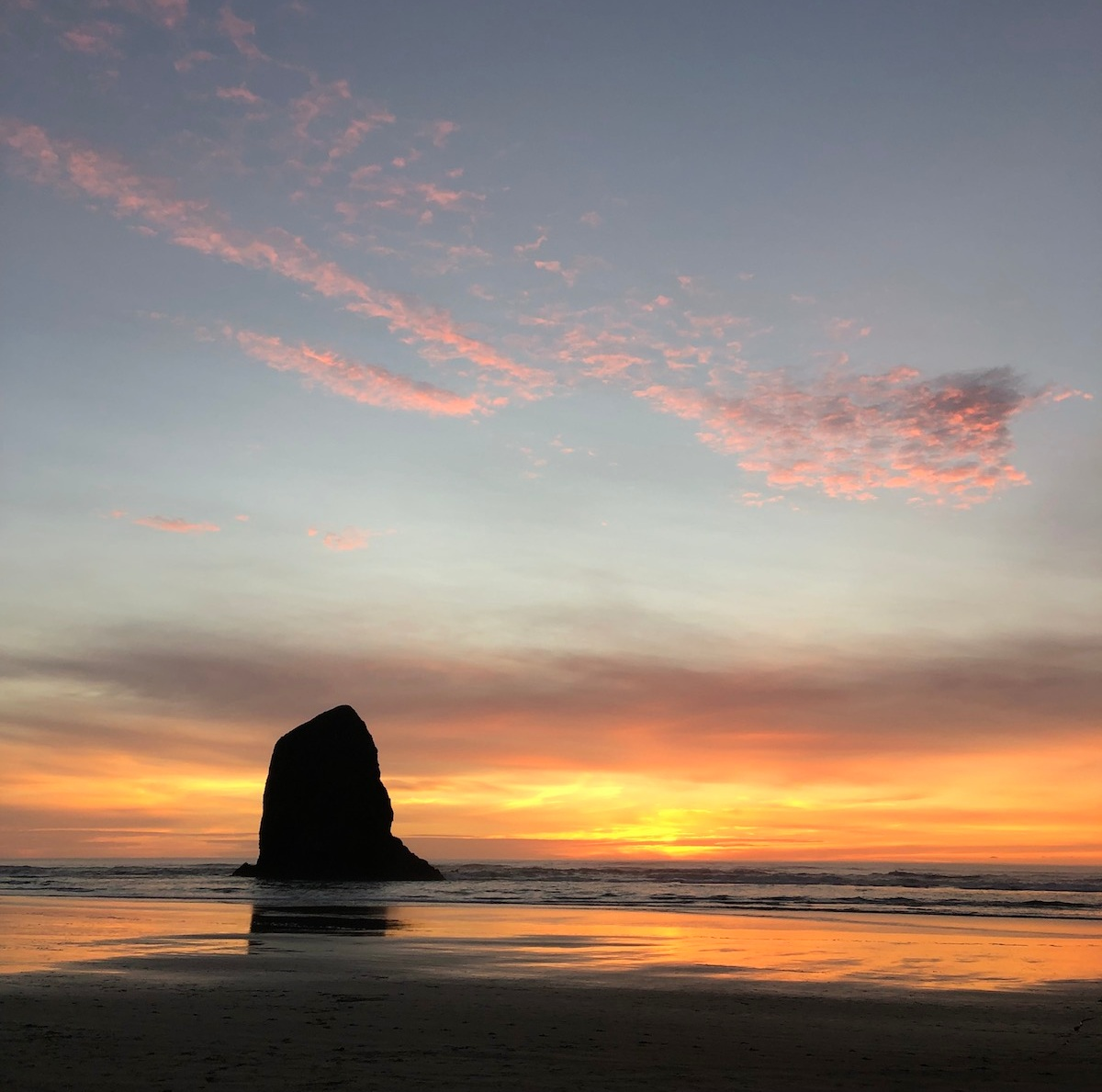 A sunset near Silver Point, south of Cannon Beach, Oregon