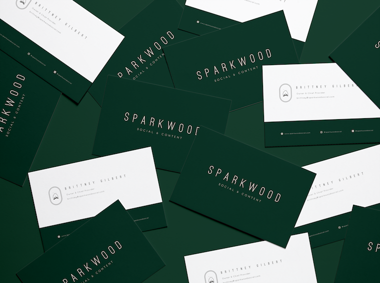 Sparkwood Social & Content Business Cards