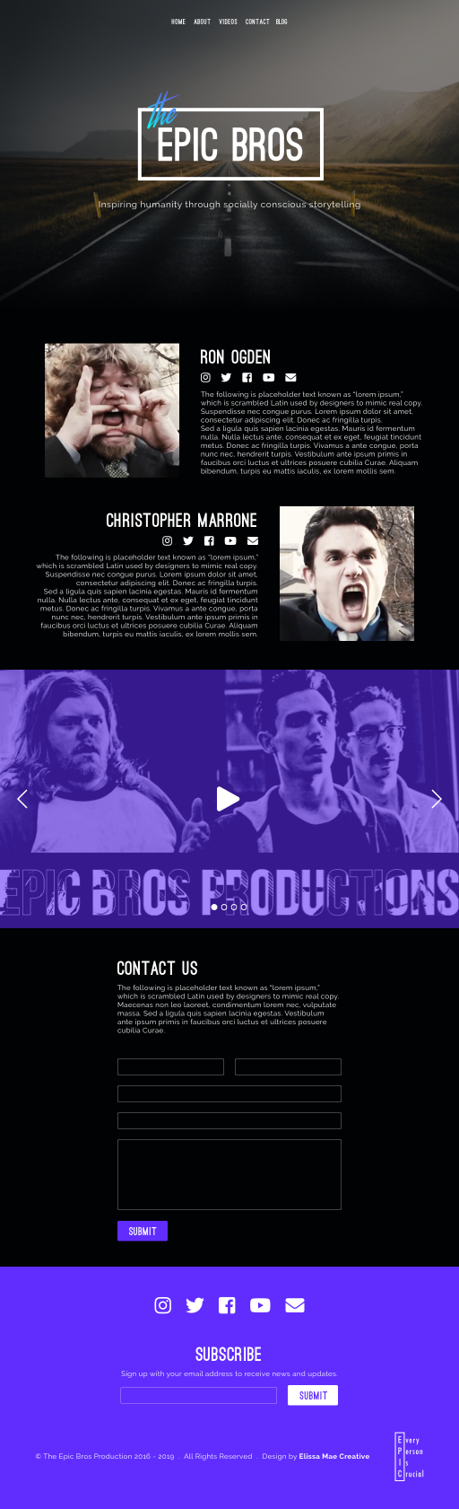 The Epic Bros Website