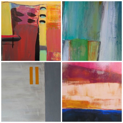 Linda McKewan, Marjorie Allen & Lorraine Betts - ABSTRACT FOUR PAINTINGS January 5 - 31 2016