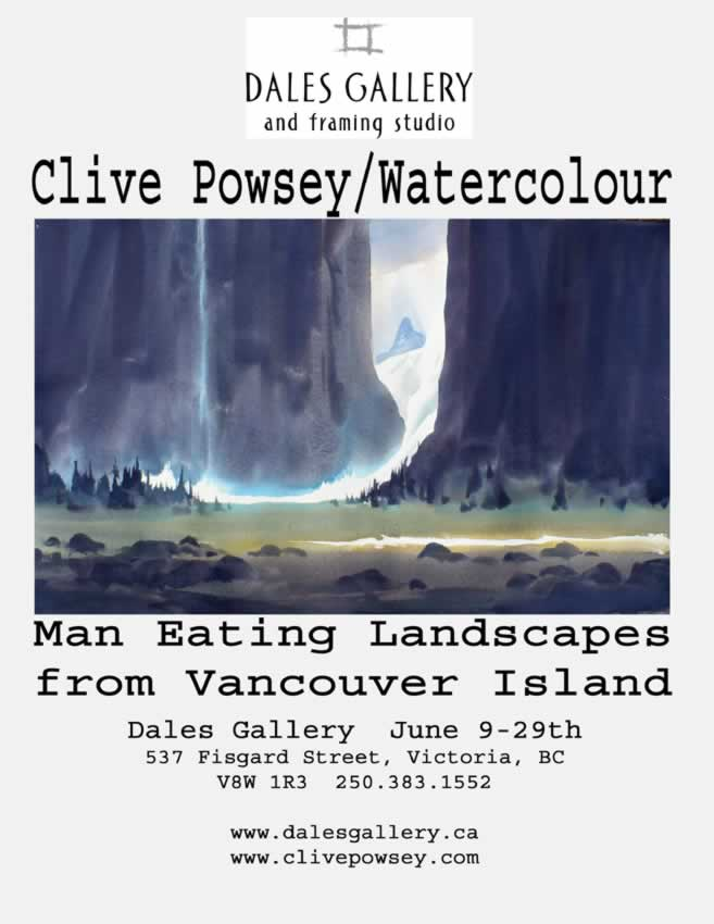 Clive Powsey - MAN EATING LANDSCAPES FROM VANCOUVER ISLANDJune 9 - 29