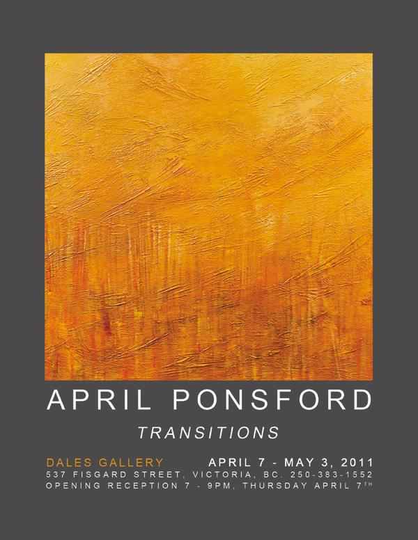 April Ponsford - TRANSITIONS April 7 - May 3