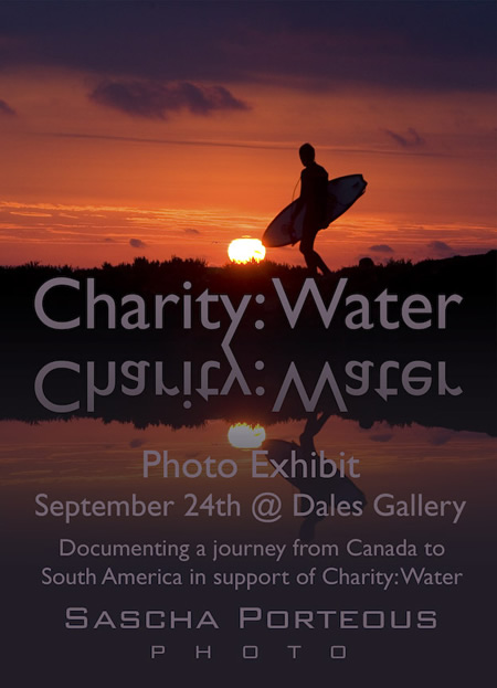 Sascha Porteous - CHARITY: WATER Sept 24