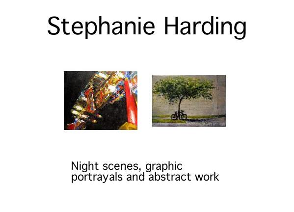 Stephanie Harding - PAINTINGS Sept 2 - 25 2009