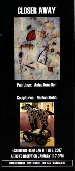 Michael Robb & Anina Kunstler - CLOSER AWAY Jan 11 - Feb 7