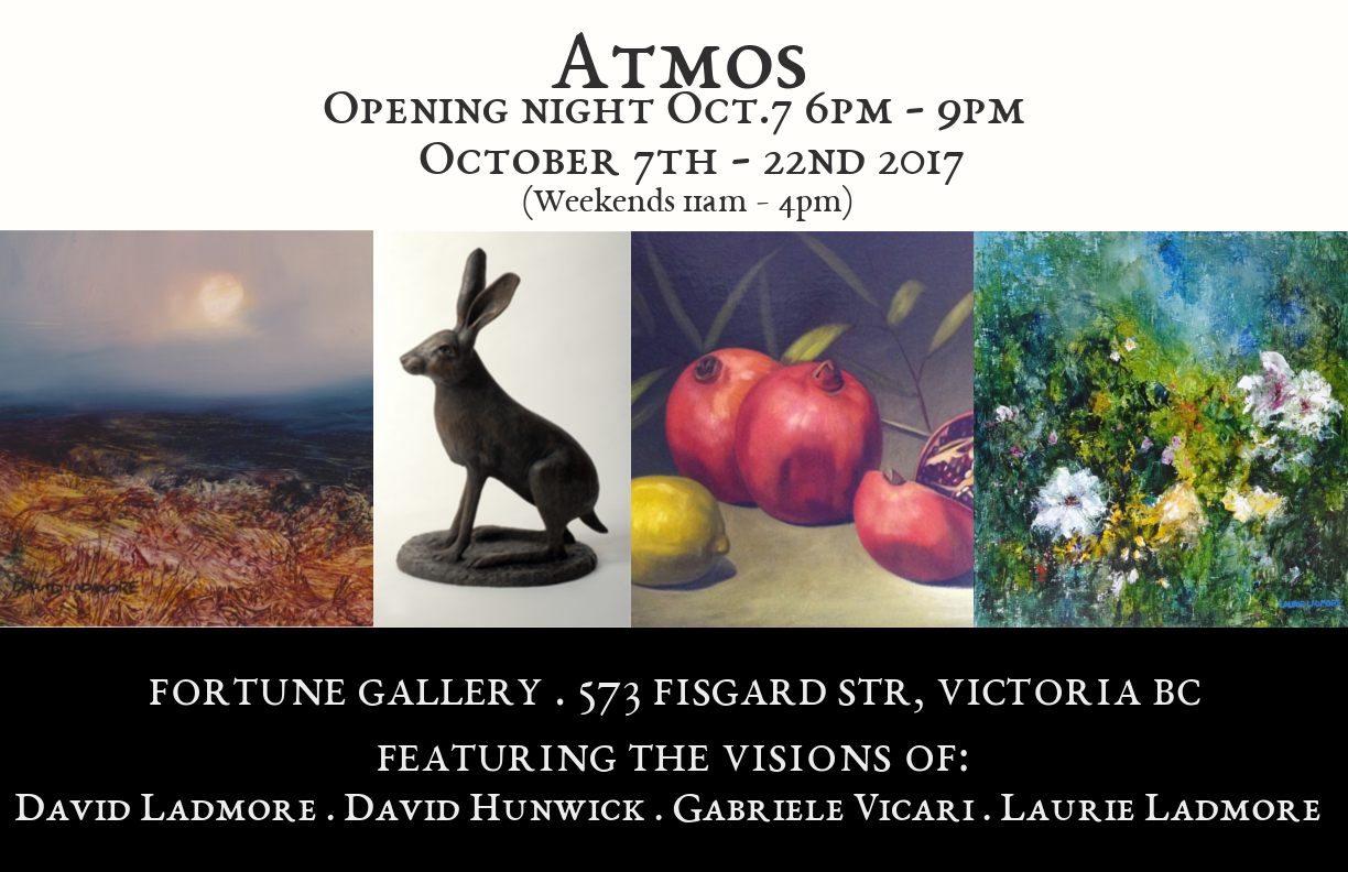ATMOS - David Ladmore, David Hunwick, Gabriele Vicari & Laurie LadmoreOctober 7th - 22nd 2017 -