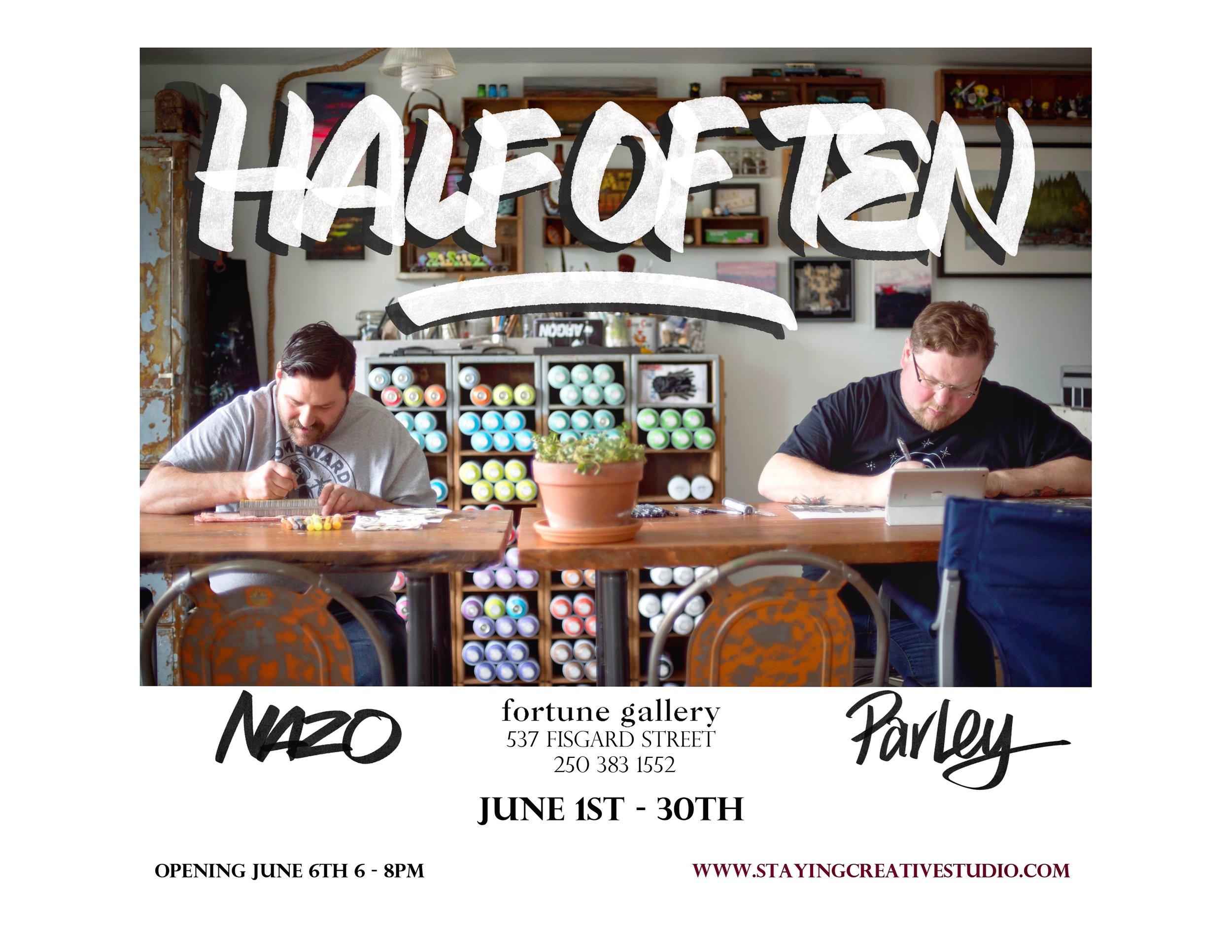 Half Of Ten - Kristofer Parley & Nathan Davis - June 1st - 30th
