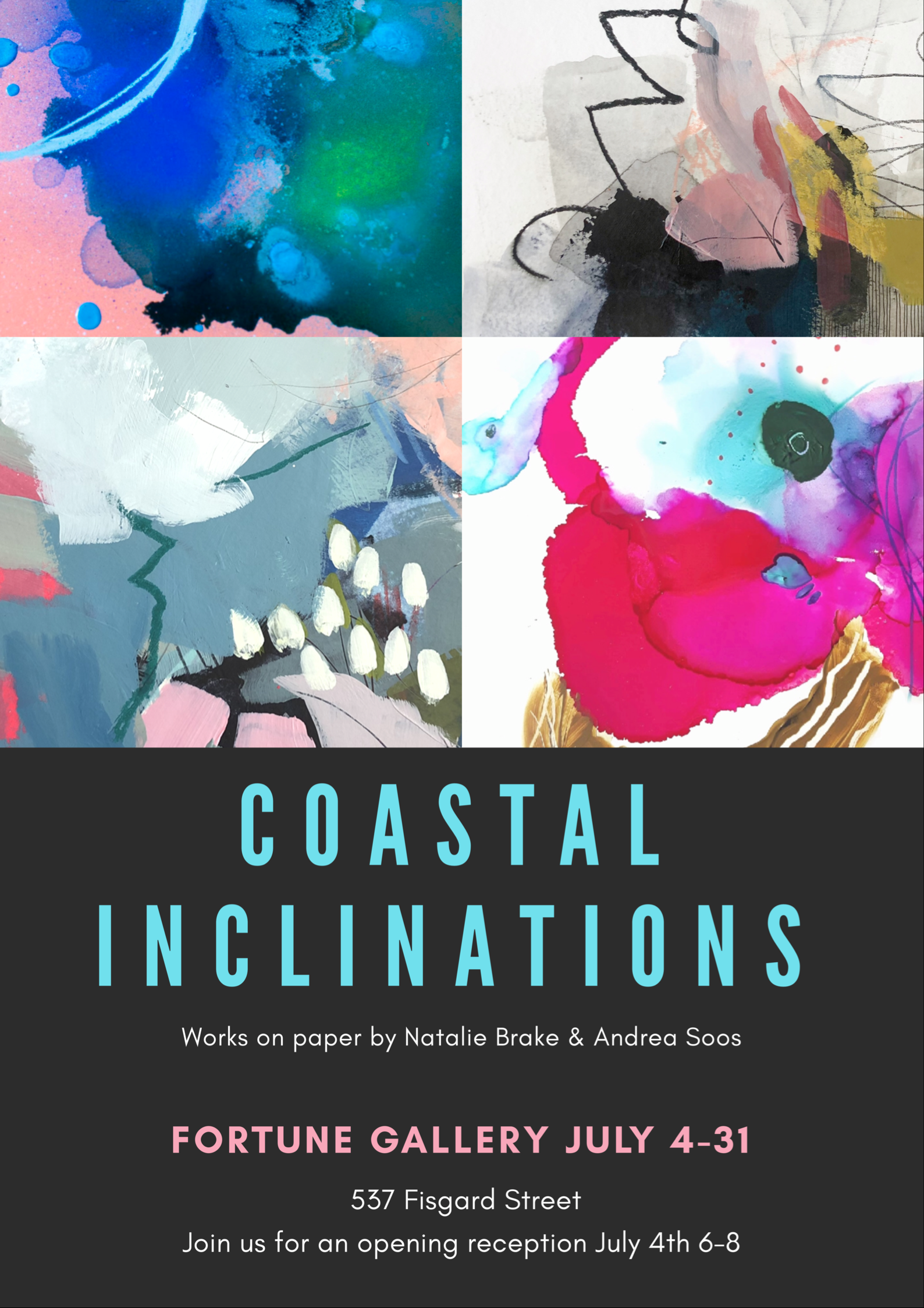 COASTAL INCLINATIONS - New Works on Paper - NATALIE BRAKE & ANDREA SOOSJULY 4 - 31 2019