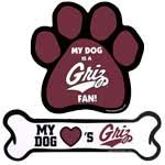 Let your pet show their support for their favorite team with these classy Griz auto magnet.