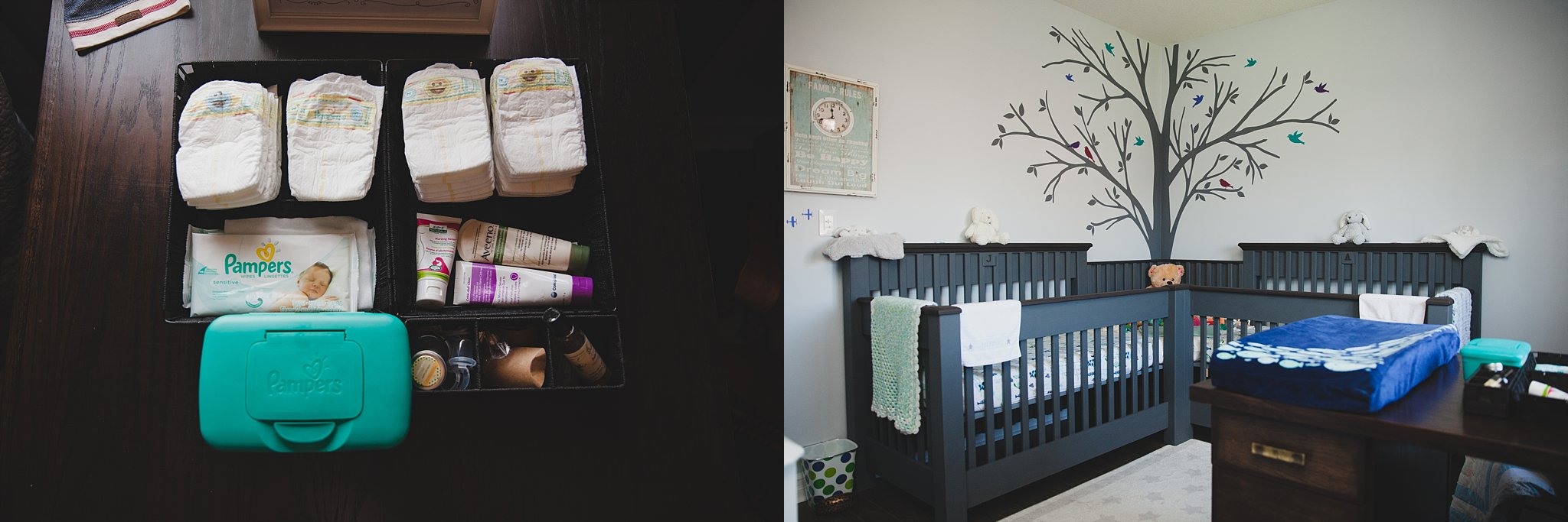 Custom made crib for twins