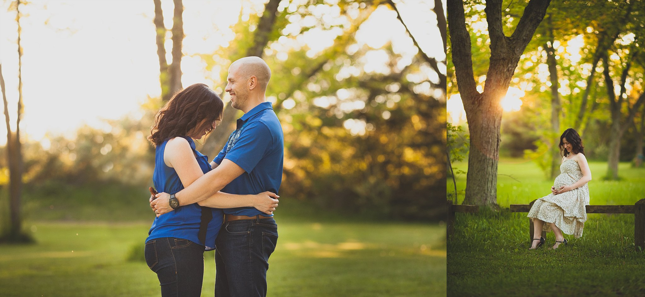 Couples maternity photograph.