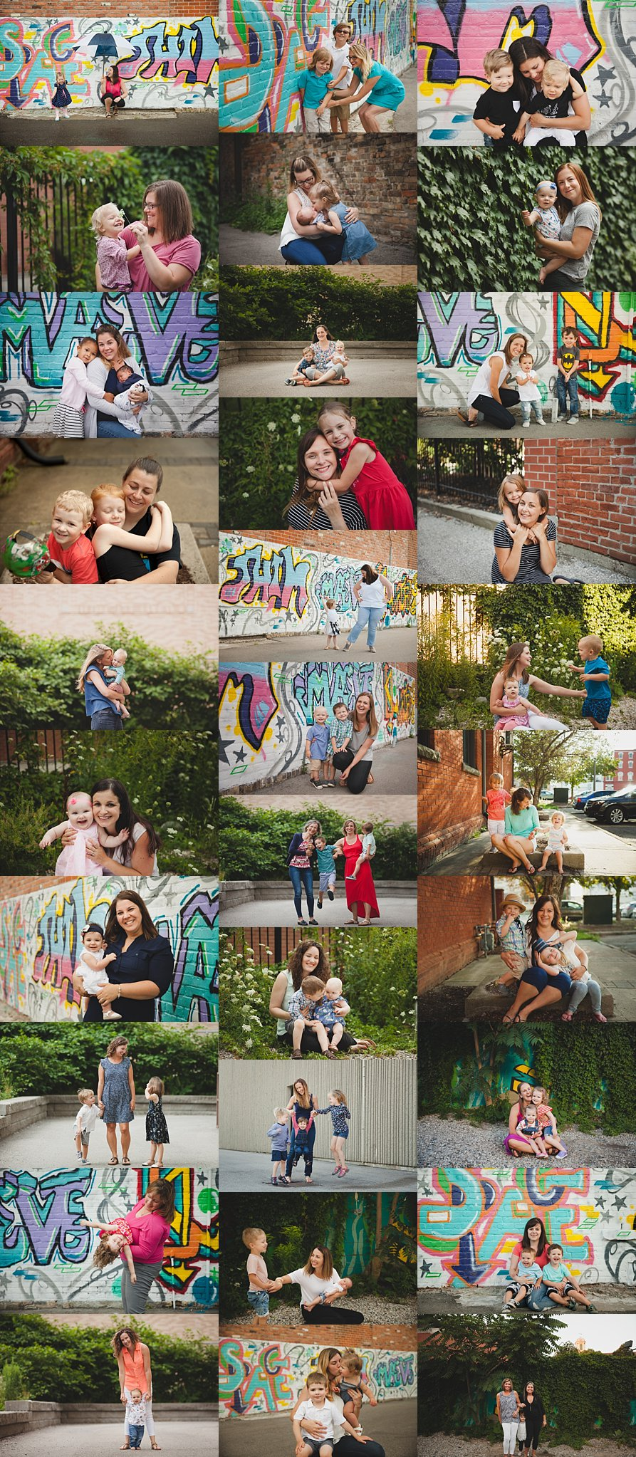 Photographs of Moms with their babies at Streetfest in Woodstock, 2017.  Photographed by Rachael Little Photography!