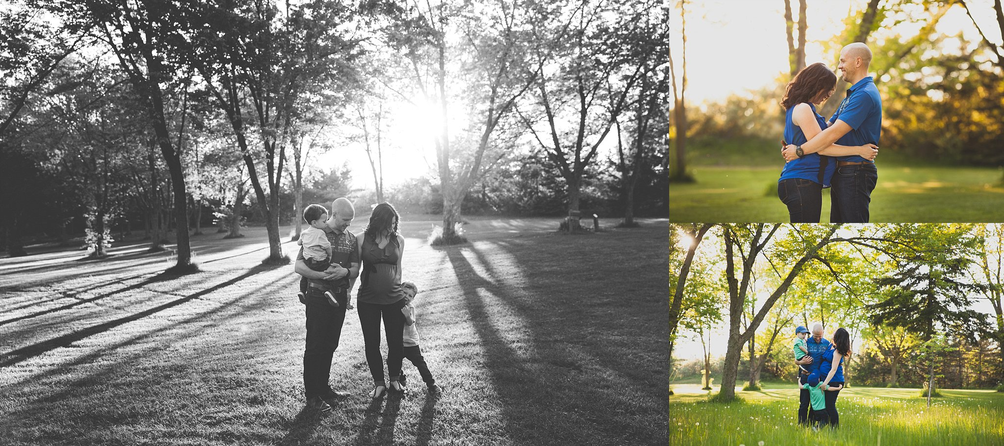 A family maternity Session in Woodstock, Ontario at Pittock Conservation Area
