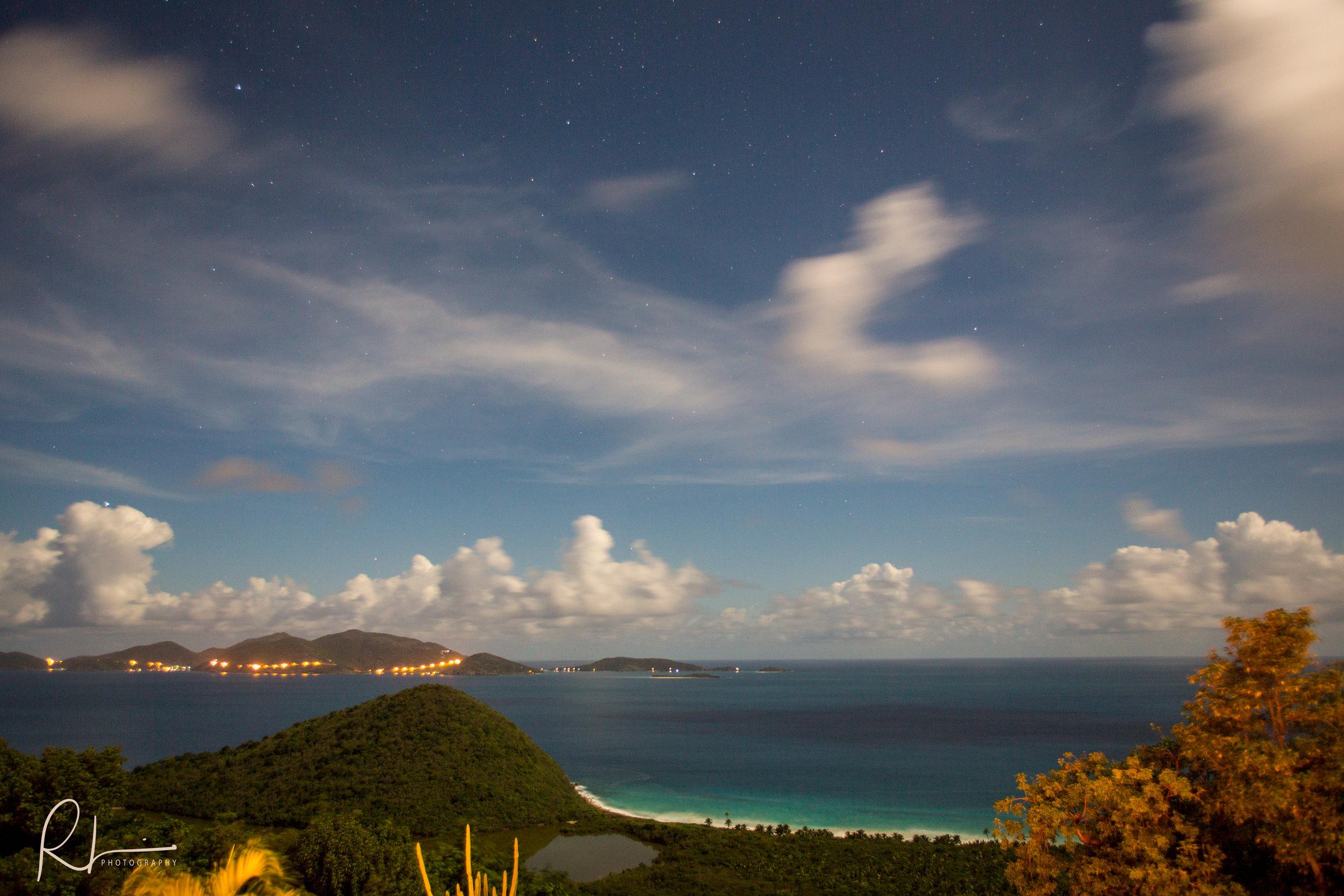Night photography in Tortola