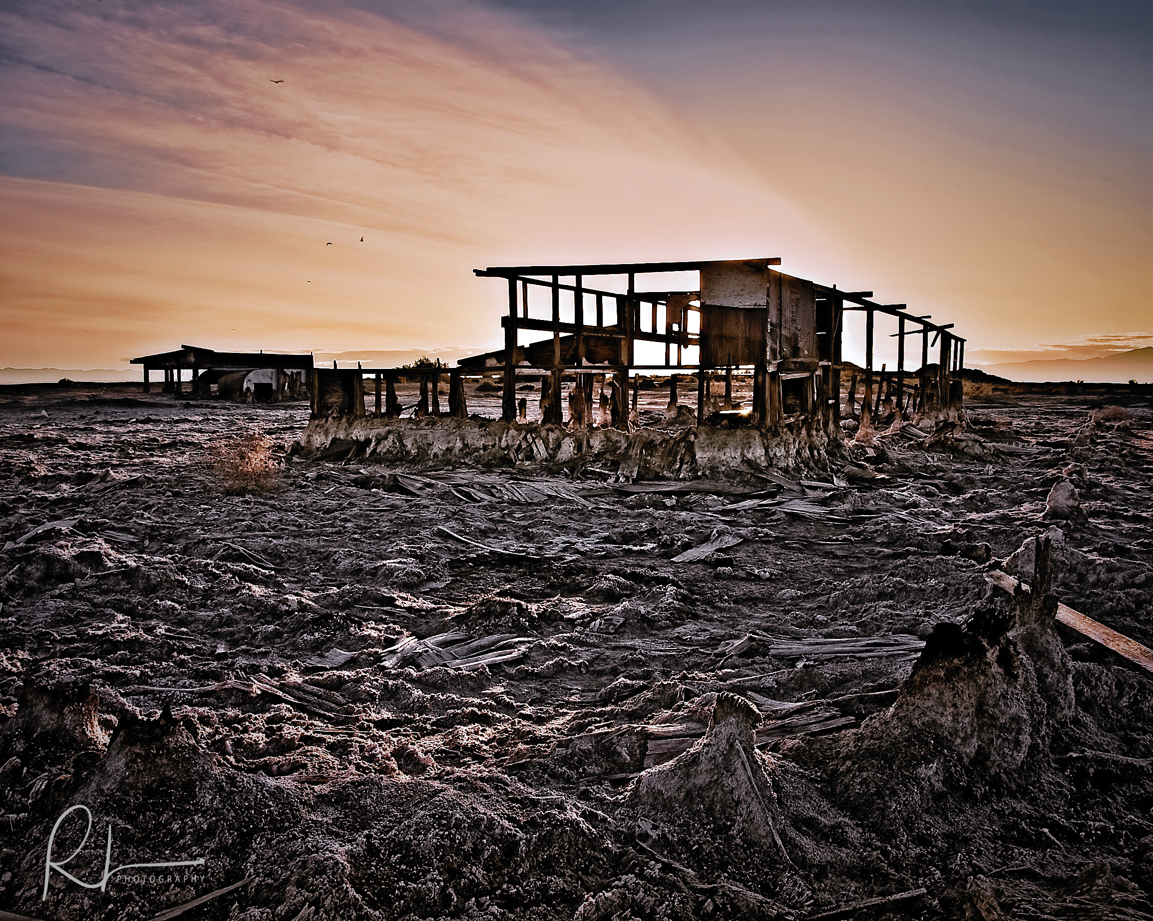 demolished home in Bombay Beach