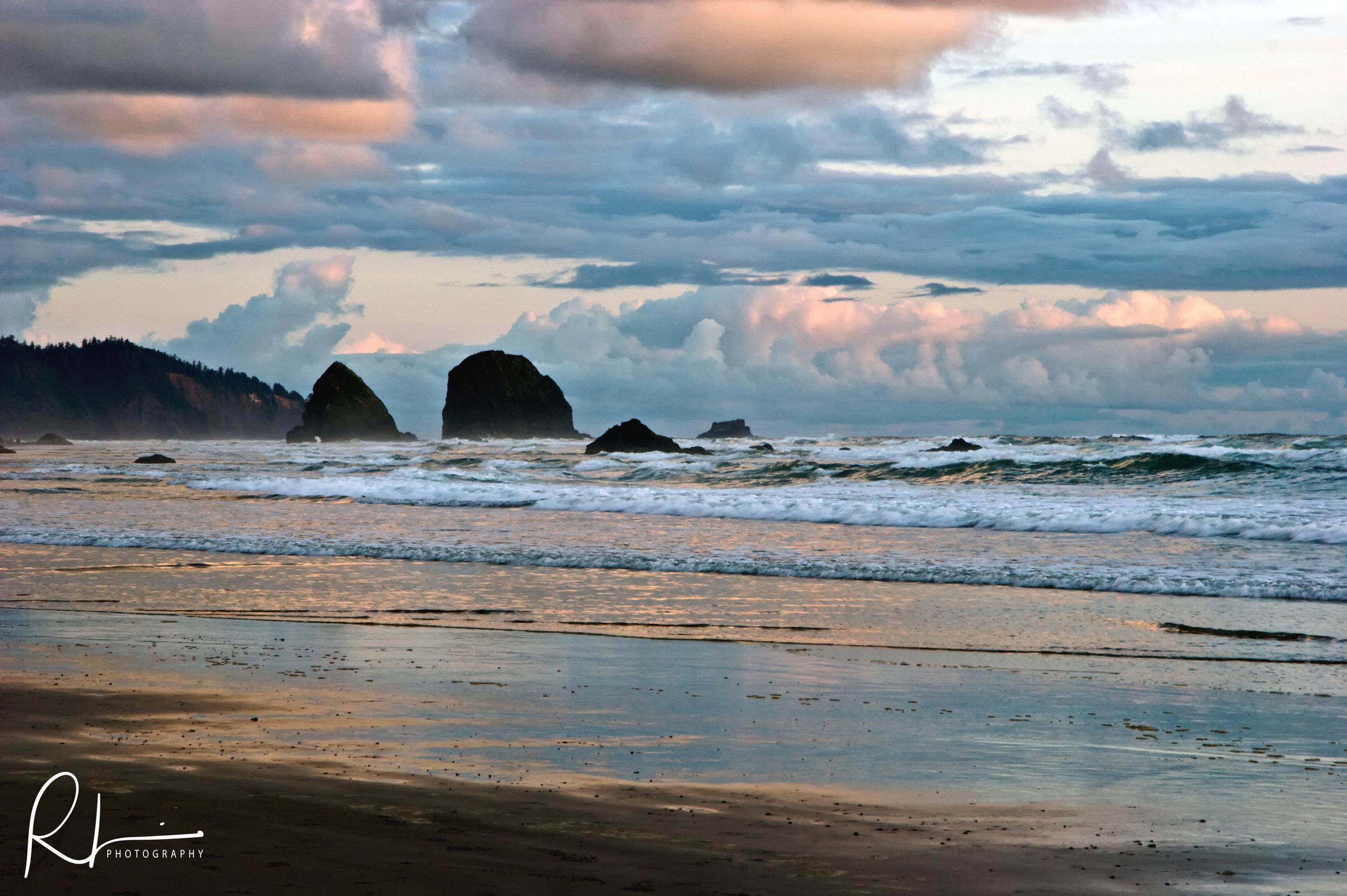Beach scene in Oregon