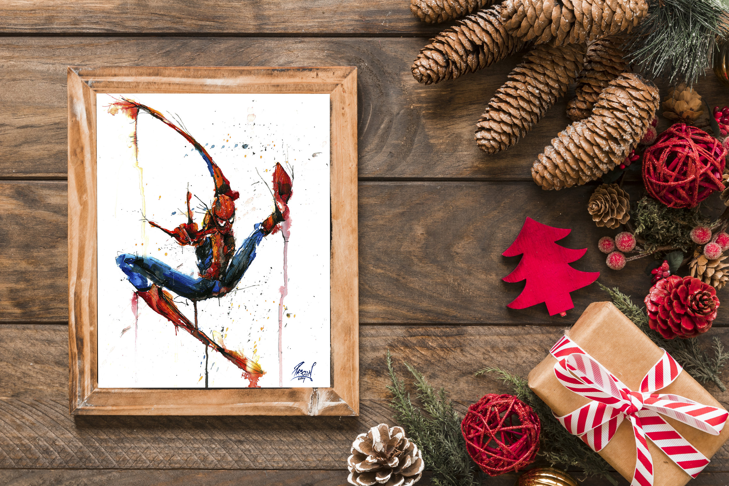 Watercolor Spiderman Print starting at $15 available  HERE   FUN FACT: In 2016, Geoff brought two of his Spider-Man prints to a Stan Lee signing - one to sign and one to give to Stan. Upon receiving a print, Stan got up from his chair to give Geoff a hand shake and complimented him on a job well done!
