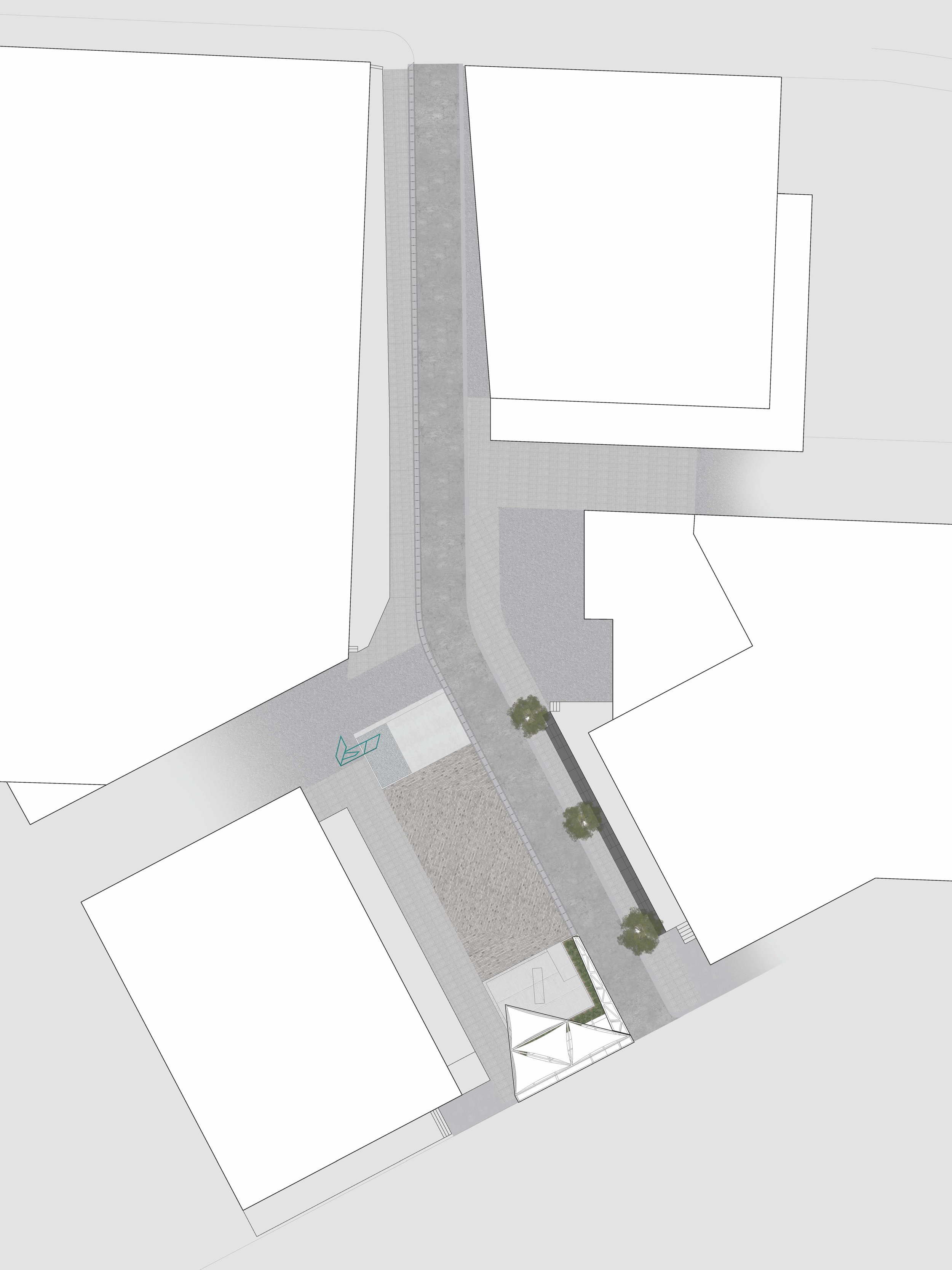 The illustration demonstrates the proposed design for the site.