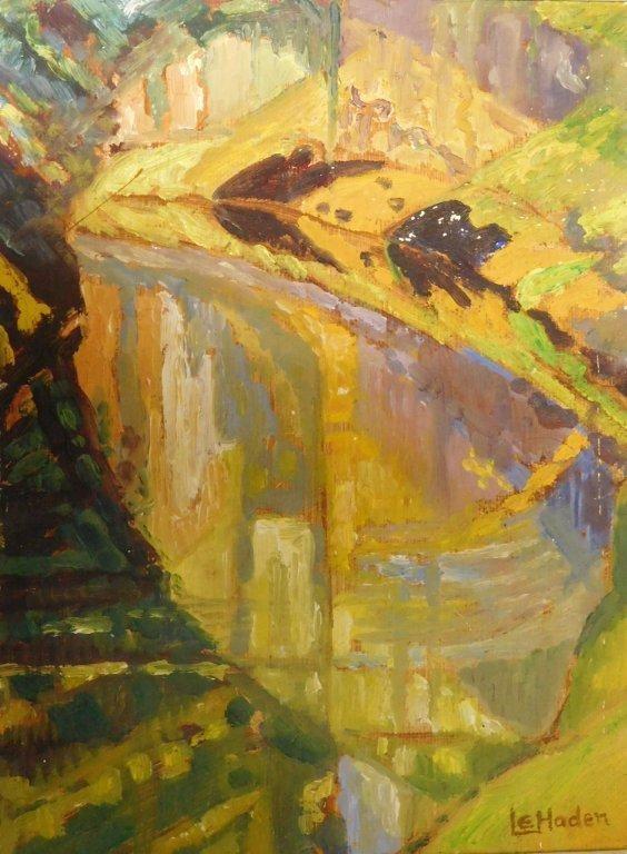 Leonora Everard-Haden,  Untitled , oil on board