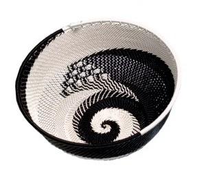 Ben Makhanya Telephone Wire Bowl (Black & white)