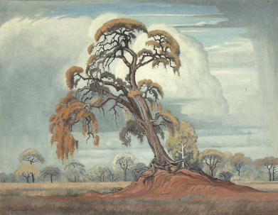 J H Pierneef, Untitled (1951), oil on canvas