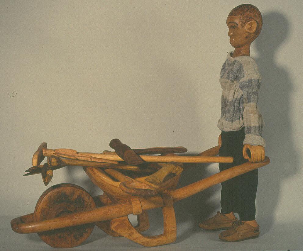 Samson Mudzunga (c.1938-2018), Wheelbarrow (c.1992), mixed media