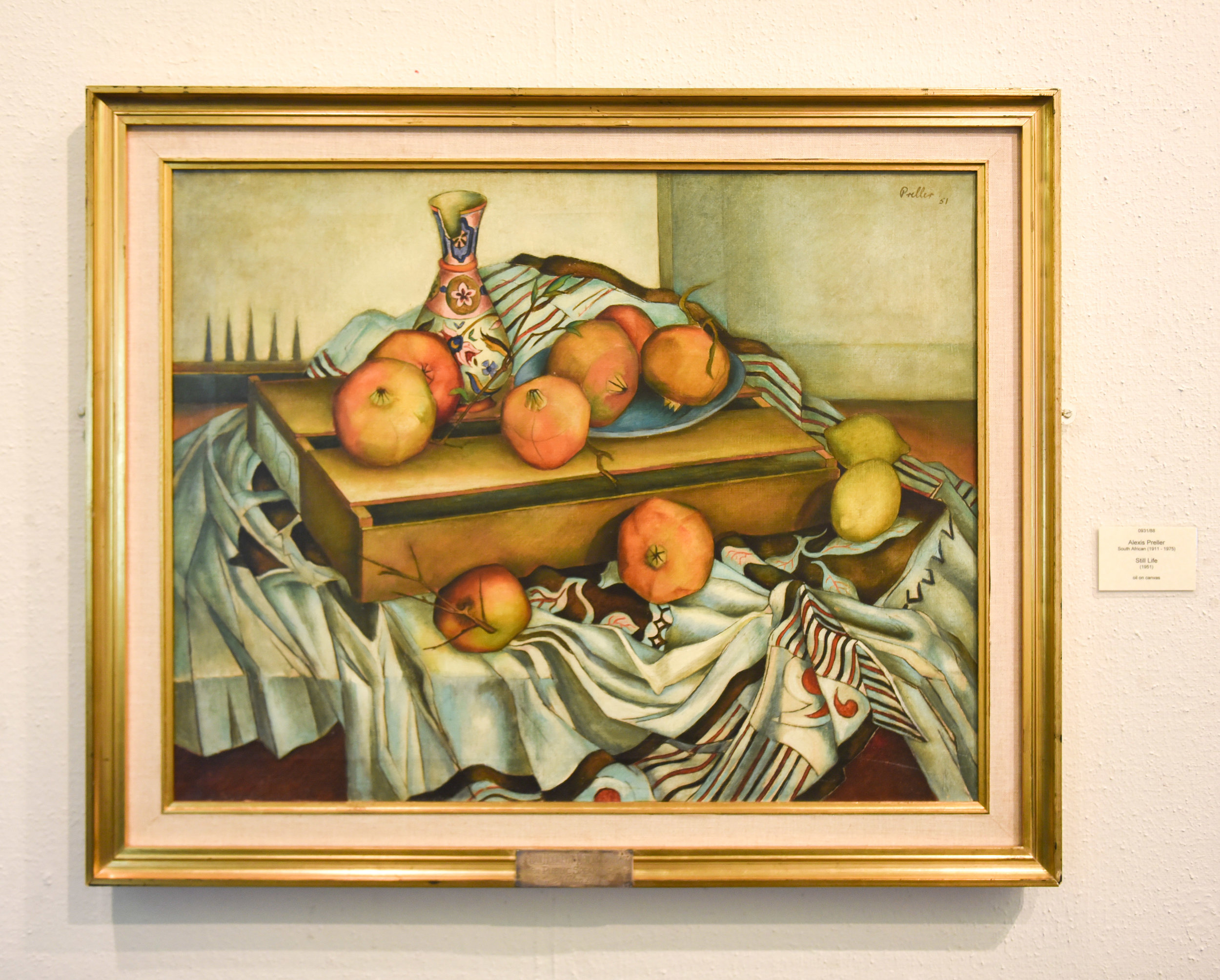 Alexis Preller,  Still Life with Pomegranates , oil on canvas