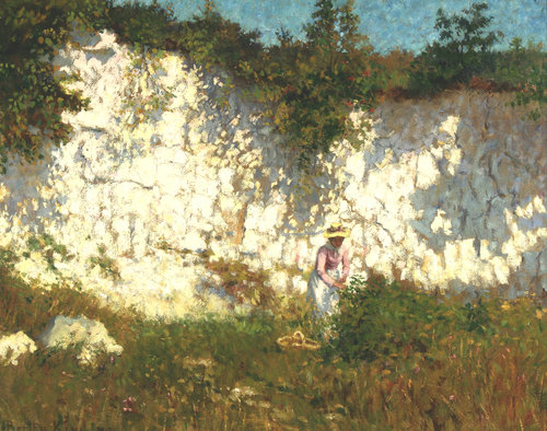 Bertha Everard (1873 – 1965), Edith Picking Flowers (1900), oil on canvas.
