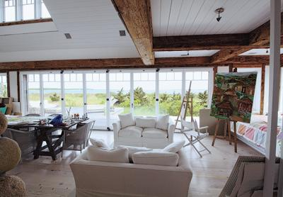"""The late Francis Fleetwood was on Forbes magazine's 2001 list of leading architects, which called him """"the architect for the A-list in the Hamptons."""" He believed the shingle style was the truly indigenous architecture of the United States. Among the 200 shingled, sprawling houses he designed, one on Georgica Pond had 14 bathrooms within its 25,000 square feet. But he also renovated a tiny, felicitously situated, 500-square foot, artist's studio for a friend. Photo: Durell Godfrey"""
