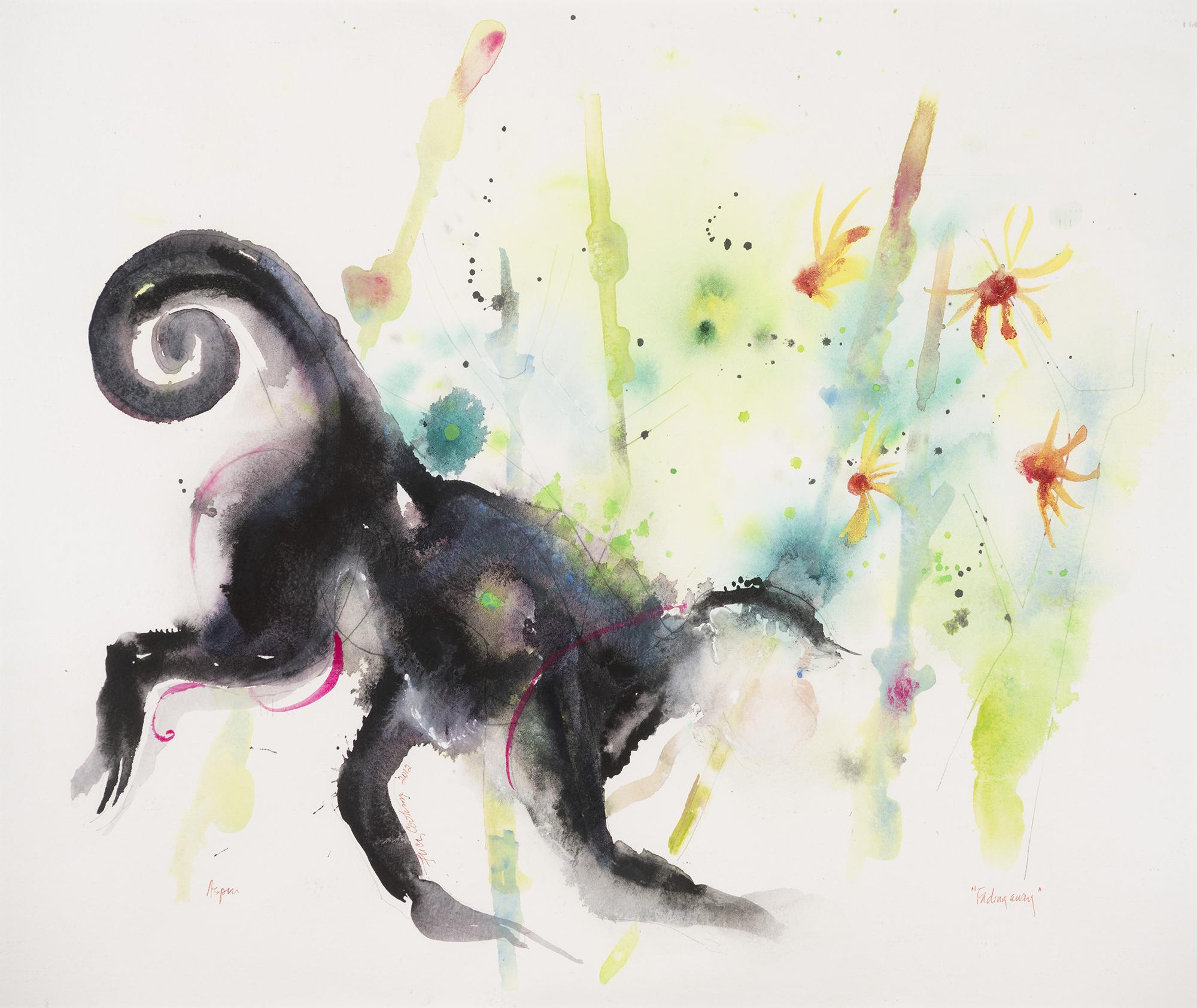 Monkey, 2010, Watercolor on paper, 20 x 25 in.