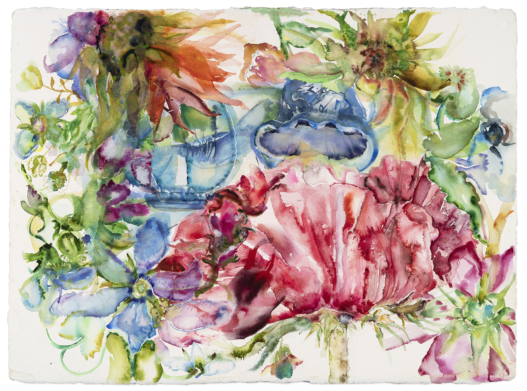 Michelle Ma Belle, 2017, Watercolor on paper, 22 x 30 in.