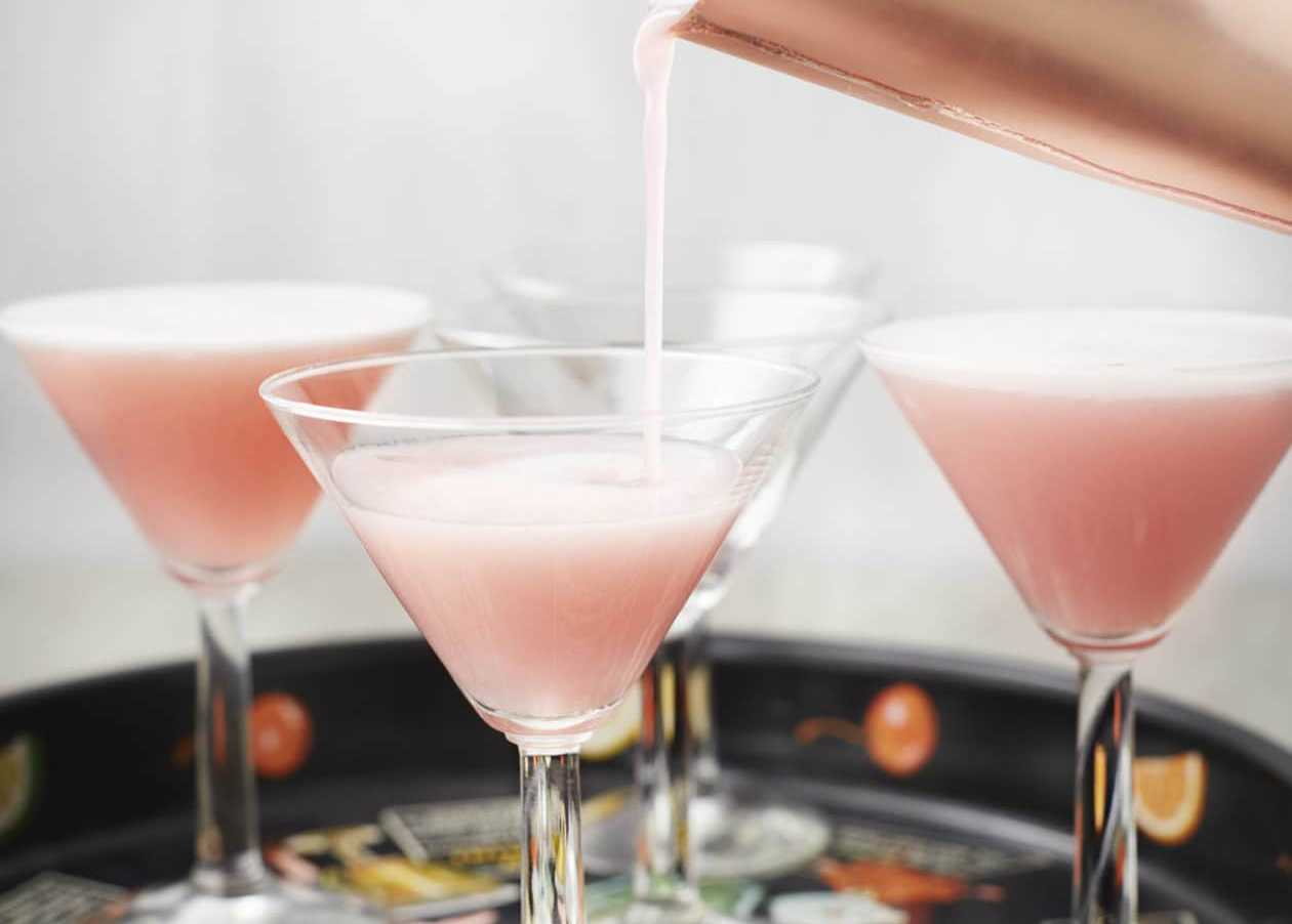 Terry & George's Rhubarb Martini - There are few more distinctively Yorkshire tastes than delicious Yorkshire Rhubarb, and this cocktail from Terry & George's 'Feeding Friends' delivers it in abundance.