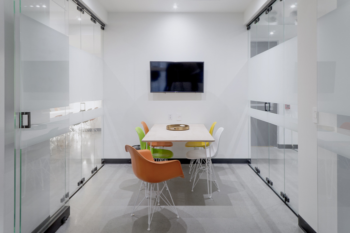 Five Person Meeting Room - meeting room two, four and five comfortably accommodate up to five. two is in the galleri and four and five are more secluded. perfect for small team meetings or client presentations.Starting @ $50 Per Hour