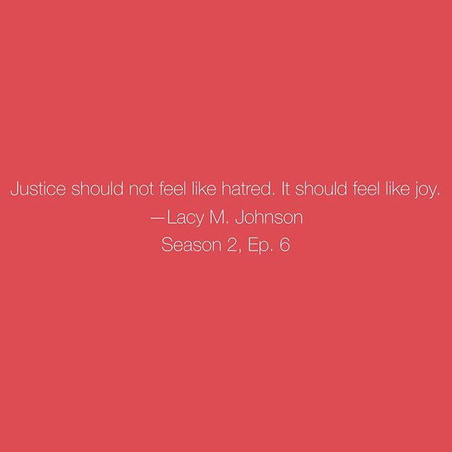 One of my favorite conversations. Season 2, Episode 6. Mercy-ish with @lacymjohnson