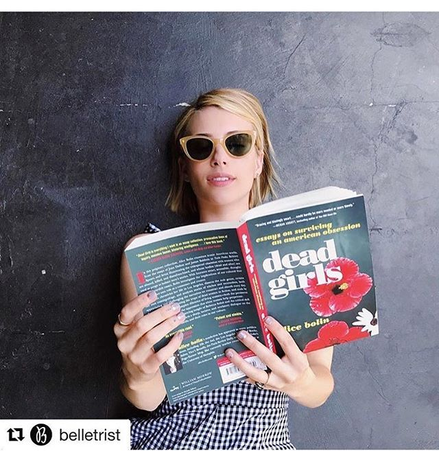 On the podcast! I talk to essayist @alicebolin about her wonderful collection DEAD GIRLS. We talk about @lanadelrey, the lasting fascination with Lolita and cultural obsessions with #deadgirls. T O M O R R O W. @belletrist #belletristbook #belletristbabe #womenwriters #womenwhopodcast #bookstagram #writersofinstagram