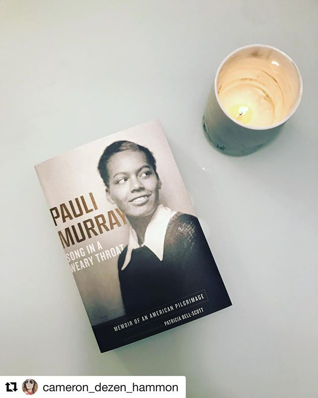"""#Repost @cameron_dezen_hammon ・・・ Pauli Murray was a poet, memoirist, lawyer, activist, and Episcopal priest. A pioneer against racism and sexism who was arrested for sitting in the whites-only section of a Virginia bus fifteen years before Rosa Parks. Her words """"hope is a song in a weary throat"""" are carved into the residential college that bears her name at Yale (her alma mater.) My mom sent me this book, (thanks Mom!) and I cannot wait to read it. Hot coffee, an unexpected morning off, and reading this woman's story is bringing me hope today. What about you? What are you doing to remind yourself to hope? . . . #amreading #amwriting #amdrinkingcoffee #writersofinstagram #womenwriters #igbookclub #paulimurray #wwnorton #yale #freedomriders #socialactivism #activism #vote #episcopal #americanhistory"""