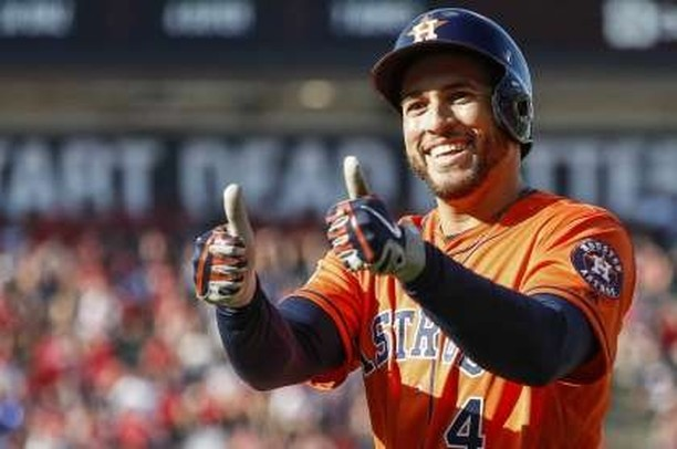 Happy 30th birthday to Astros' outfielder George Springer! ⁠ ⁠ ⁠ ⁠ ⁠ #astros #baseball #mlb #houston #worldseries #houstonastros #htx #earnhistory #htown