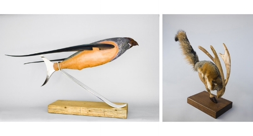 Swan Coach House Gallery in Atlanta shows animal sculpture art by Jayson Niles