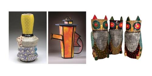 Pottery and sculpture at the Summer Swan Invitational in Atlanta, GA