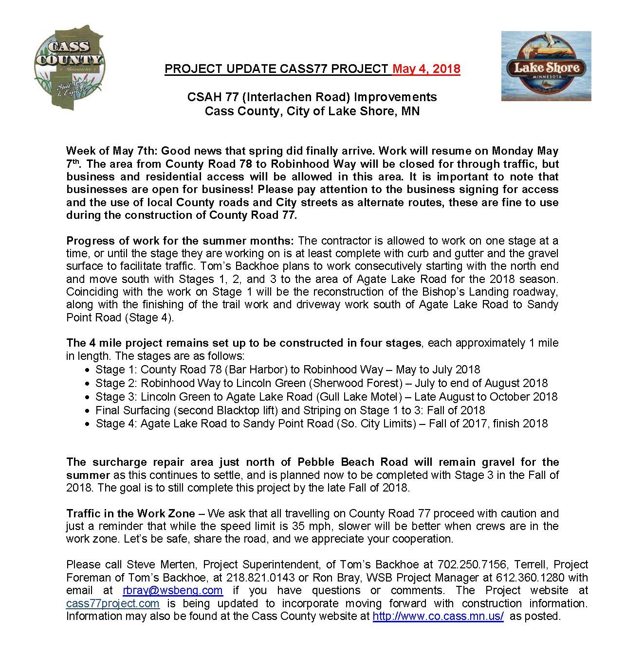 Cass County CSAH 77 Project update May 4th 2018.jpg