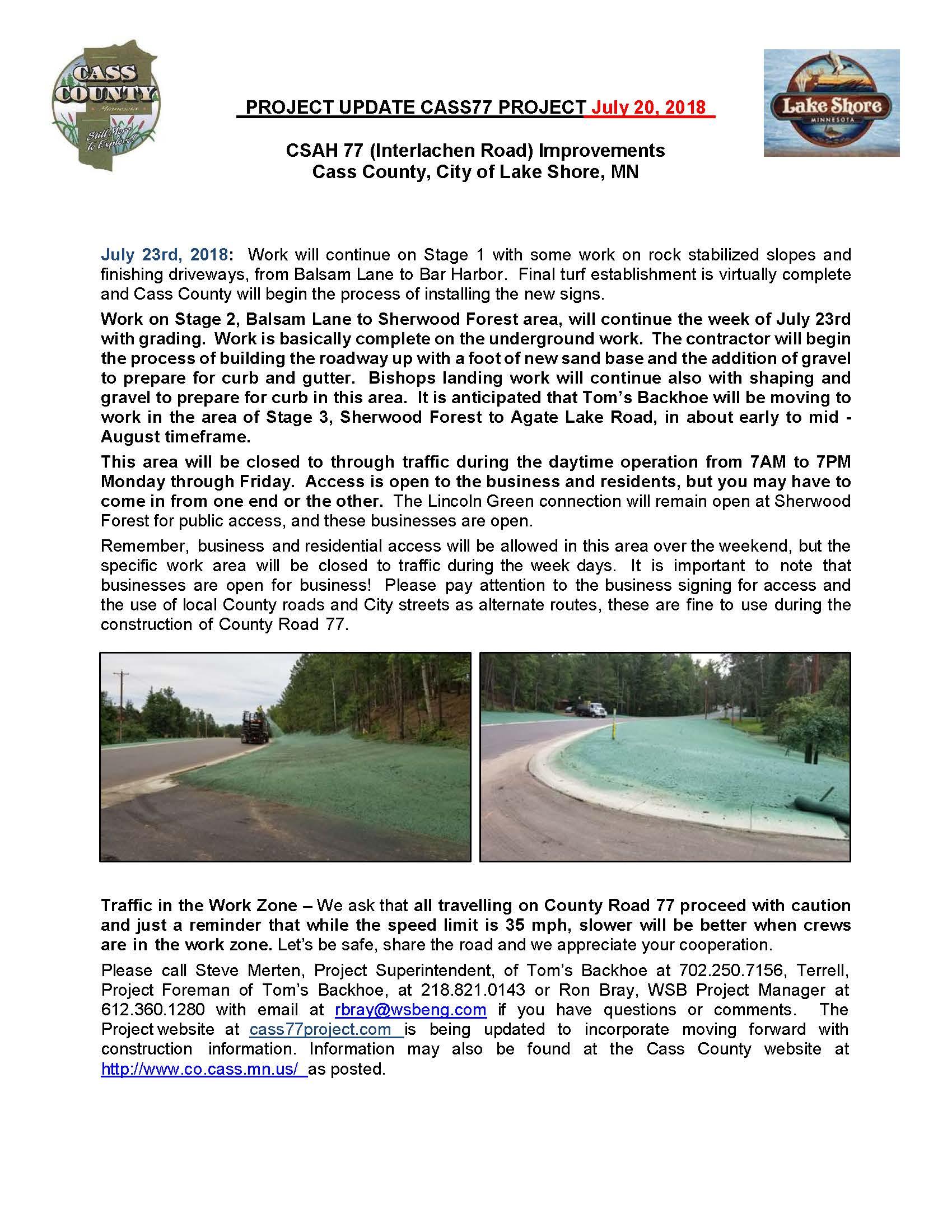 Cass County CSAH 77 Project update July 20 2018.jpg