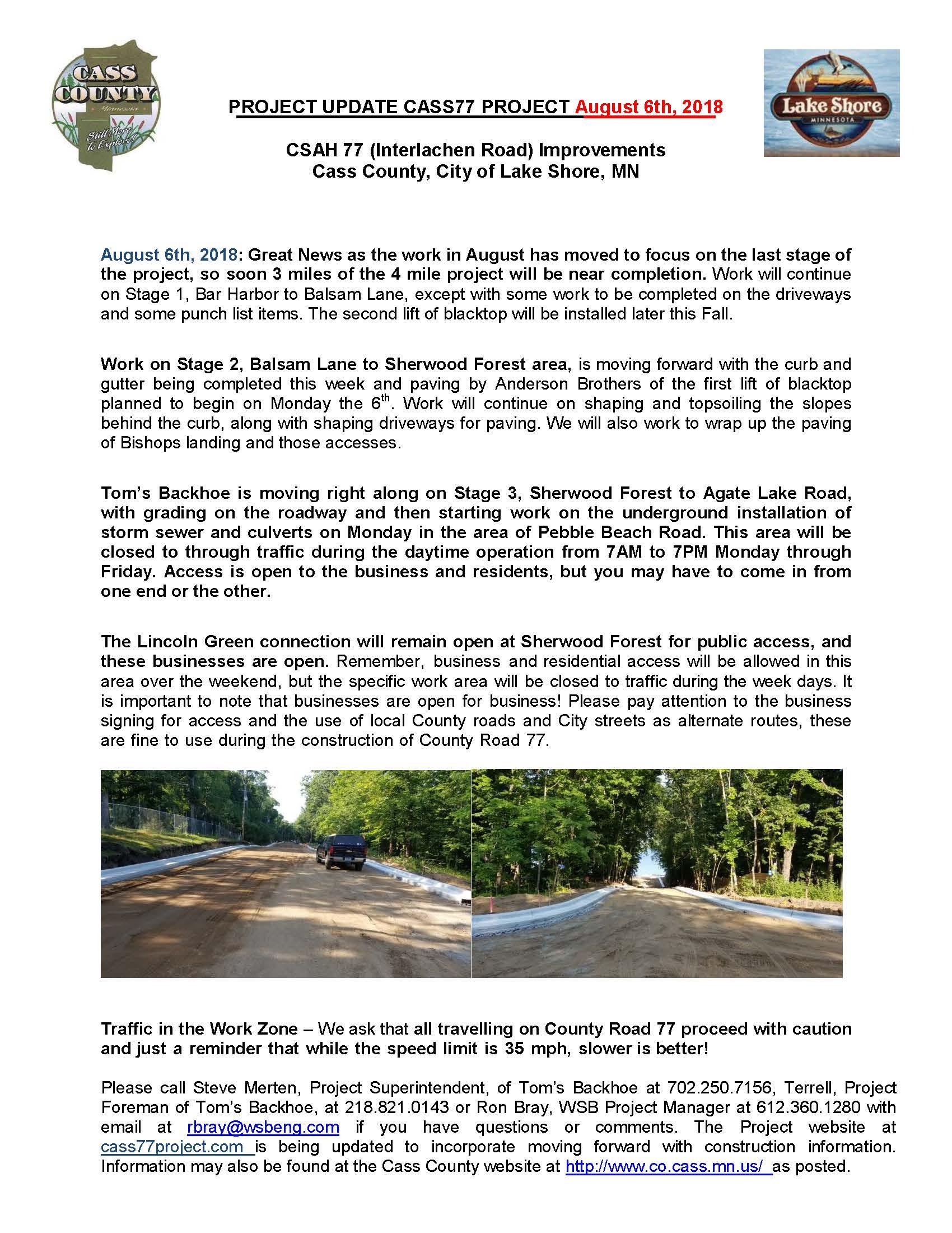 Cass County CSAH 77 Project update August 3 2018.jpg