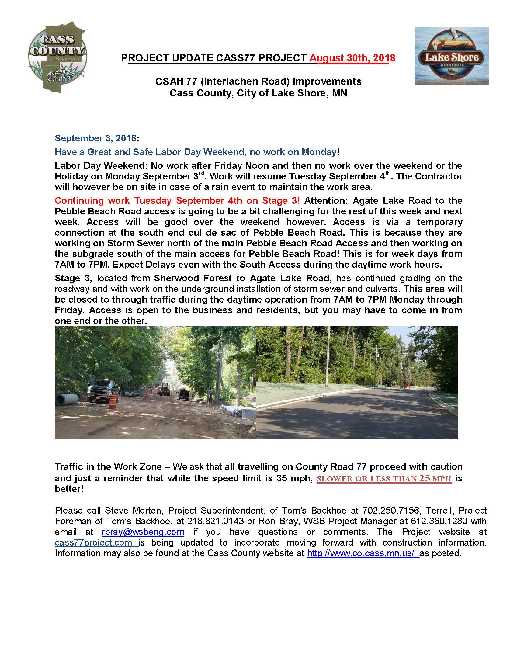 Cass County CSAH 77 Project update August 30th 2018.jpg